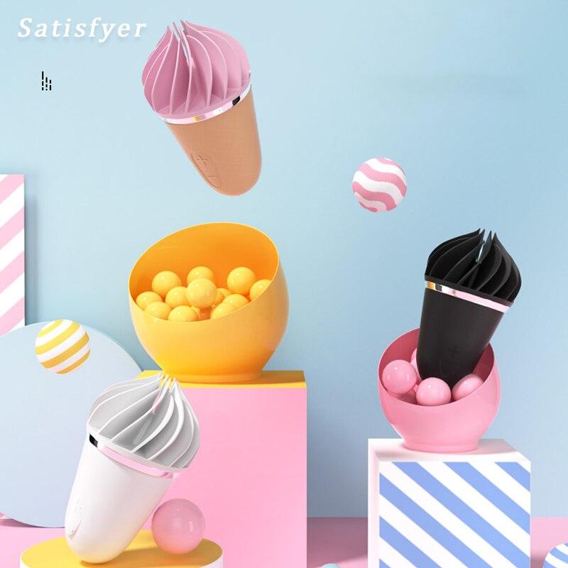 Satisfyer-هزاز سيليكون ناعم للنساء ، محفز تدليك البظر ، لعبة جنسية ، G-spot ، للنساء