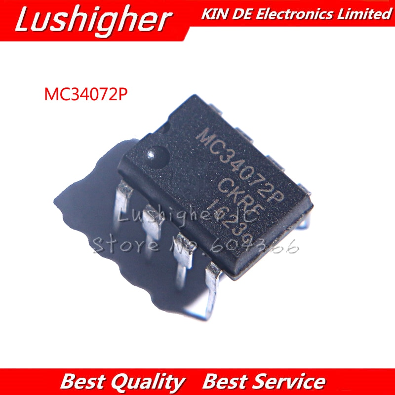 10pcs MC34072P DIP8 MC34072 DIP-8 MC34072PG DIP