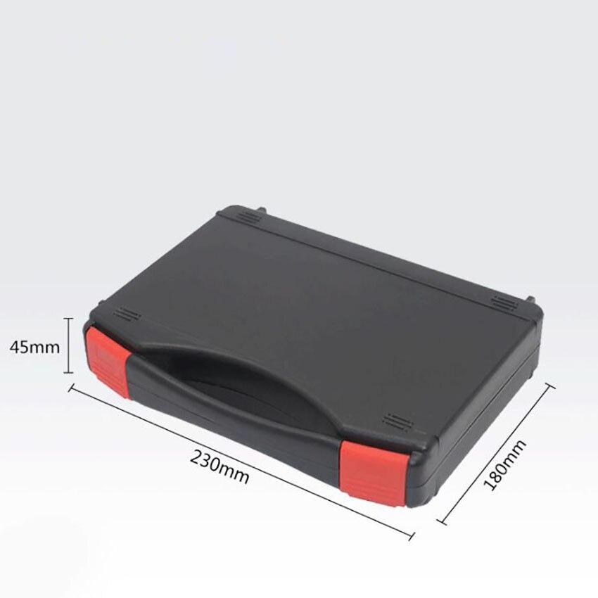 Estuche de plástico duro de 230x180x45mm maletín negro Caja de Herramientas estuche de transporte estuche de herramientas portátil, herramientas de protección, equipo de prueba