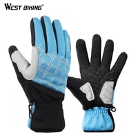 west biking winter cycling gloves thermal full finger bike gloves touch screen windproof warm outdoor sports ski bicycle gloves