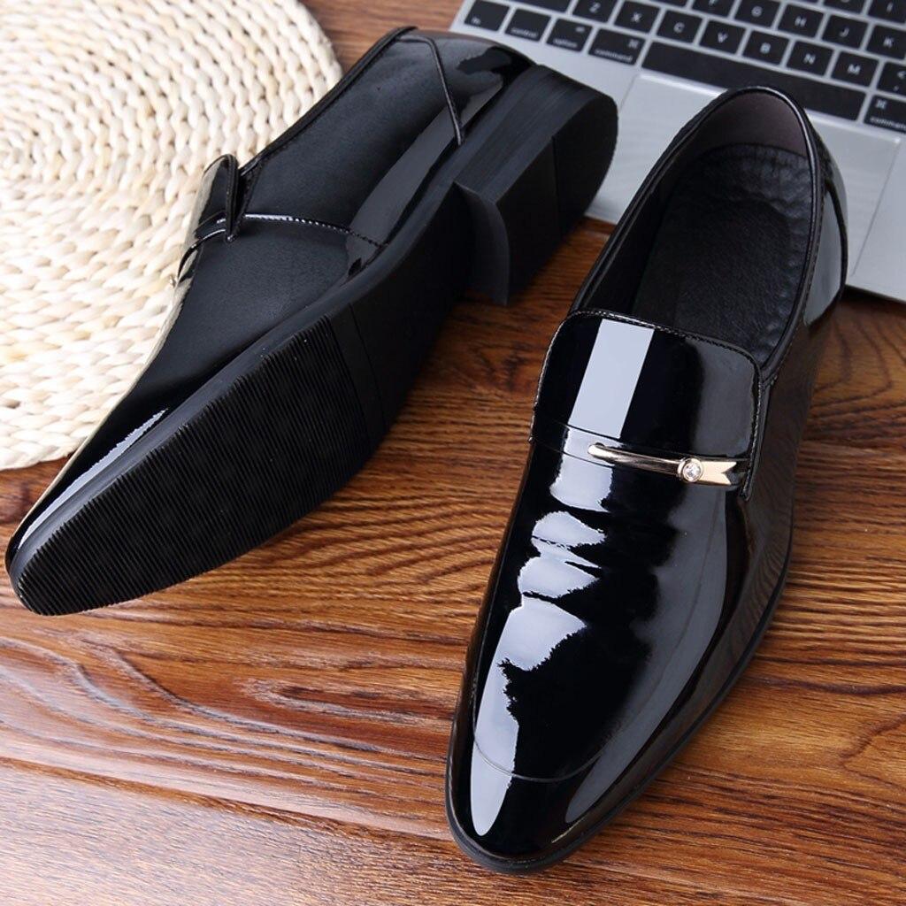 Zapatos De Vestir clásicos para Hombre, Zapatos formales De cuero, Zapatos Oxford...