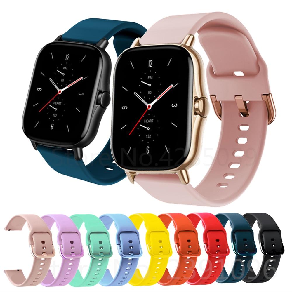 Silicone Wrist Band Strap For Huami Amazfit GTS 2 / Mini Smart Watch Band Sport Bracelet For Xiaomi Amazfit Bip S/U / Pro / GTR