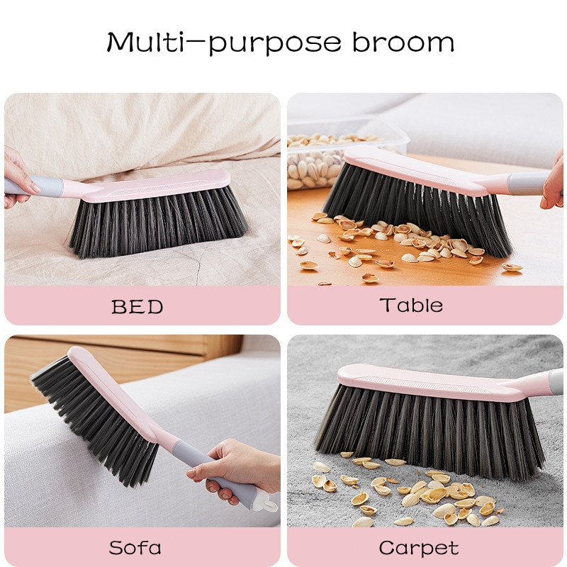 Soft Fur Bed Brush Dust Removal Artifact Broom Cleaner Sweeping Brush Long Handle Household Cleaning Sofa Dust Brush enlarge