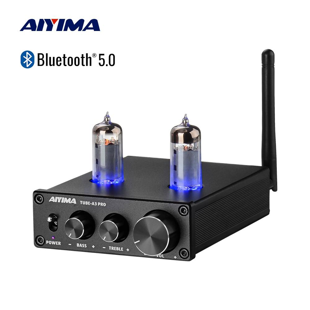 AIYIMA-مضخم صوت أنبوب فراغي Bluetooth 5.0 6K4 ، لوحة صوت ، مضخم صوت ، تعديل الجهير ، لتقوم بها بنفسك ، المسرح المنزلي