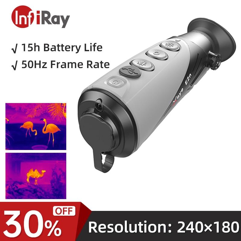 InfiRay كاميرا حرارية للصيد يده للرؤية الليلية في الهواء الطلق أحادي تلسكوب مراقبة الأشعة تحت الحمراء الحرارية تصوير E2N