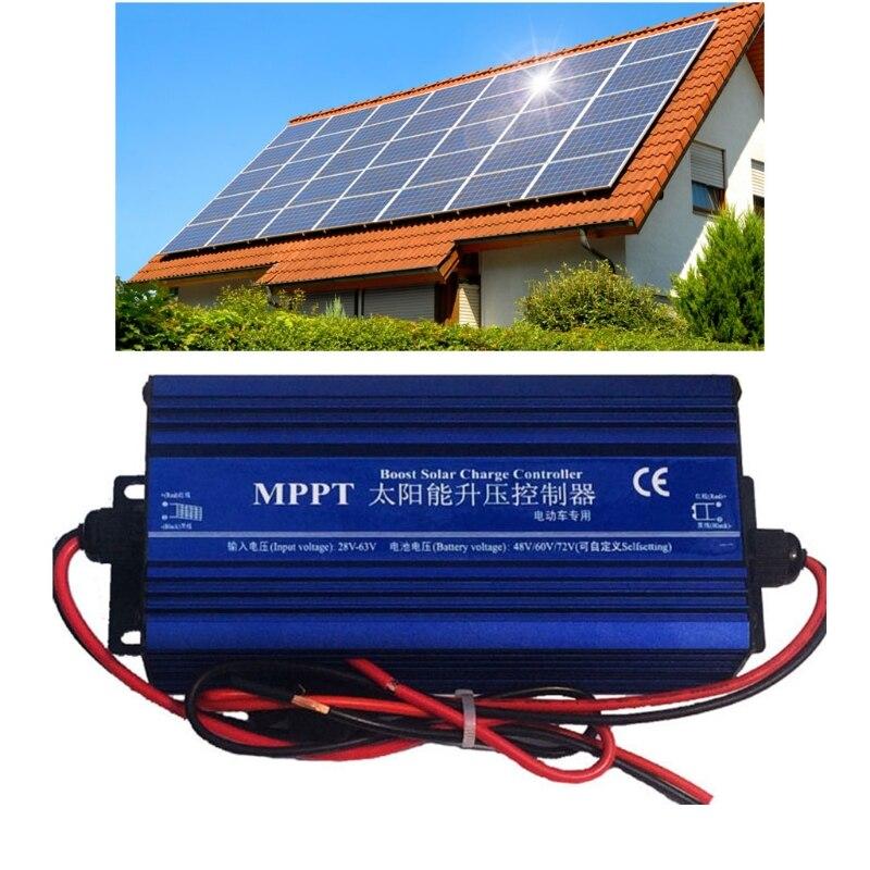 MPPT دفعة جهاز التحكم في الشحن بالطاقة الشمسية 600 واط عالية الكفاءة شحن 24/36/48/60/72 فولت