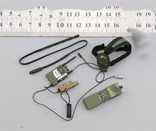 1/6 ordu ve deniz kolordu kulaklık iletişim servis seti modelleri 12Figures organları aksesuarları