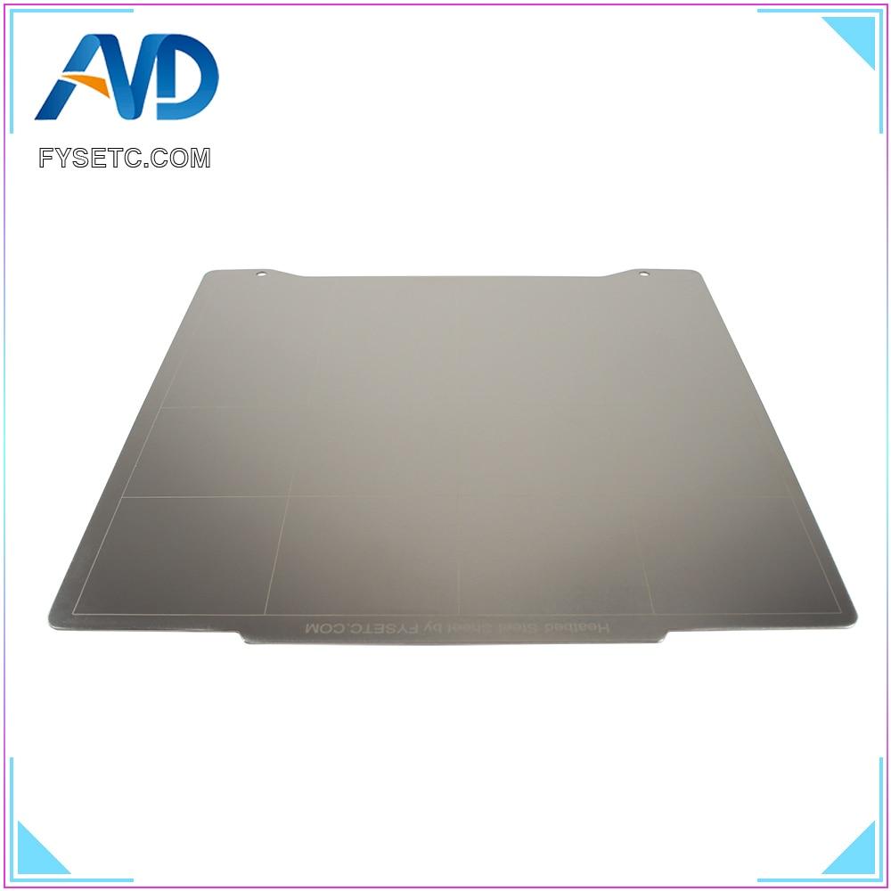 FYSETC mini steel plate 196.3*190mm Spring Steel Sheet Heat Bed Platform 3D Printer  For clone prusa mini