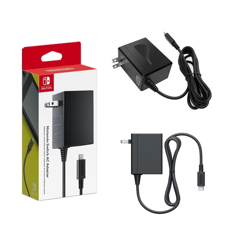 Оригинальное зарядное устройство для Nintendo Switch NS, игровая консоль, розетка стандарта США, ЕС, Великобритании, адаптер переменного тока, домаш...