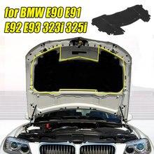 126,5x64,5 см Автомобильный капот двигателя Звукоизоляционная подкладка хлопок для BMW E90 E91 E92 E93 323i 325i 51487059260 с заклепками ядро черный