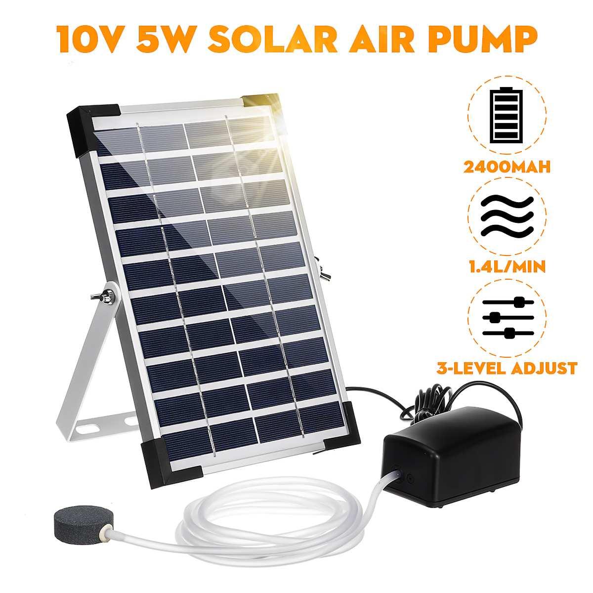 10 в 5 Вт Солнечный кислородный генератор воды мини аквариумный воздушный насос завод Рыба кислородный компрессор аэратор Air Maker