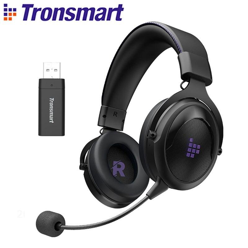 Tronsmart-auriculares inalámbricos Shadow para videojuegos, cascos de 2,4G con diadema cómoda para...