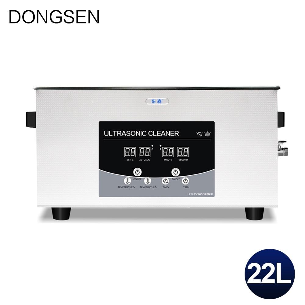 22L industriel nettoyeur à ultrasons bain métal moule moteur pièces bloc Circuit imprimé DPF huile rouille enlever ultrasons laveuse Machine
