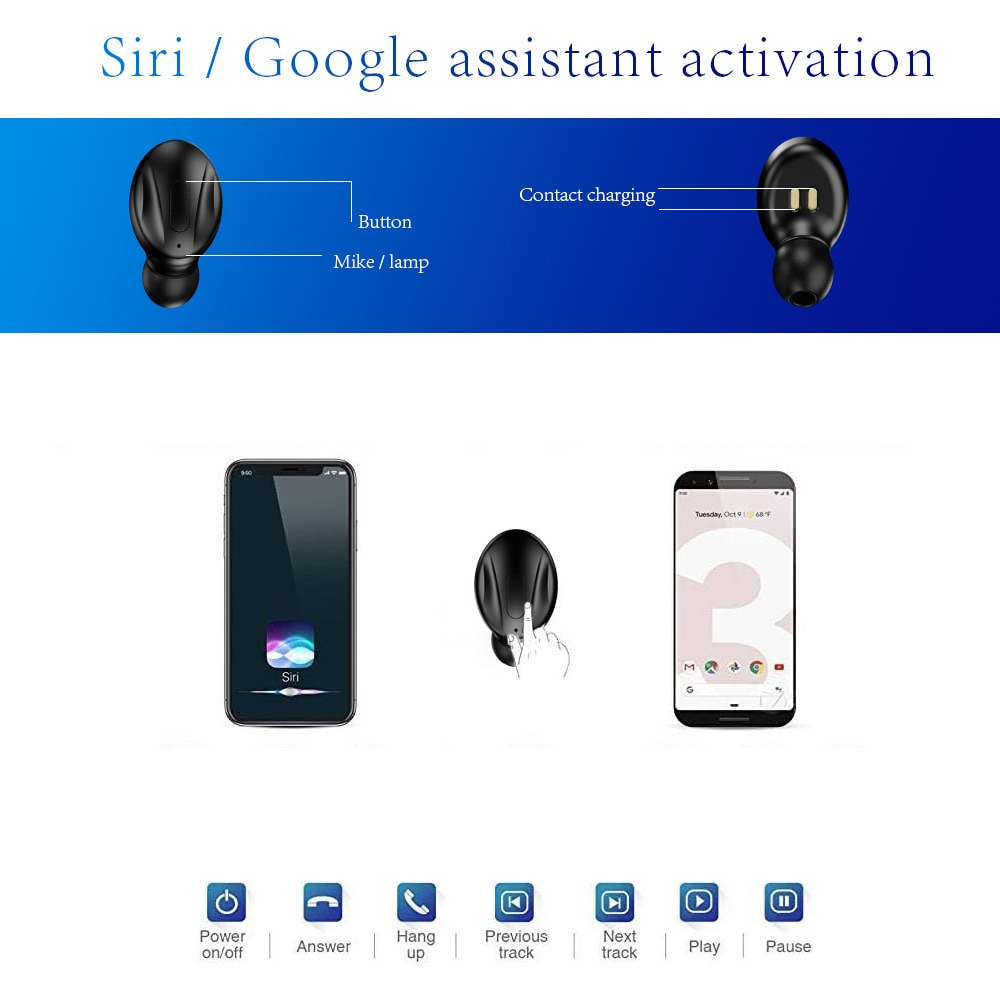 Multi Function Portable Waterproof Earbud IPX5 Bluetooth Wireless Earphones with Charging Box High Sound Quality Music Headphone enlarge