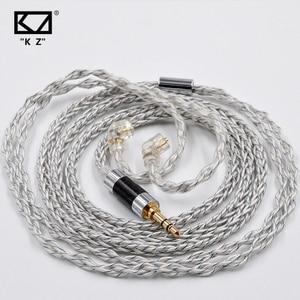 KZ 8 Core Silver Plated Upgrade Cable Earbud Cable KZ ZSX ZS10 PRO ASX ZAX DQ6 ZSN PRO ZSN AS12 AS16 ZSN PRO X CCA CS16