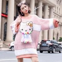 oversized loose womens streetwear pullover fashion beaded sequins cartoon plus size knitwear autumn winter %d0%b6%d0%b5%d0%bd%d1%81%d0%ba%d0%b8%d0%b9 %d0%bf%d1%83%d0%bb%d0%be%d0%b2%d0%b5%d1%80