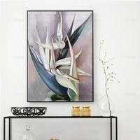 georgia okeeffe white bird of paradise abstract art okeeffe print floral art print gift idea wall art poster print