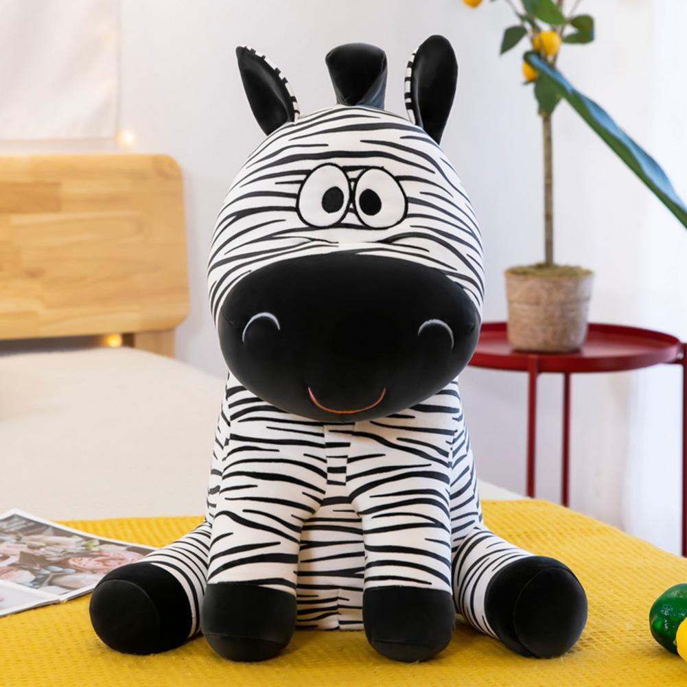 Plush Doll Cartoon Zebra Multipurpose 40cm Height Animal Stuffed Doll for Holiday Gift Plush Animals Toys Minecraft