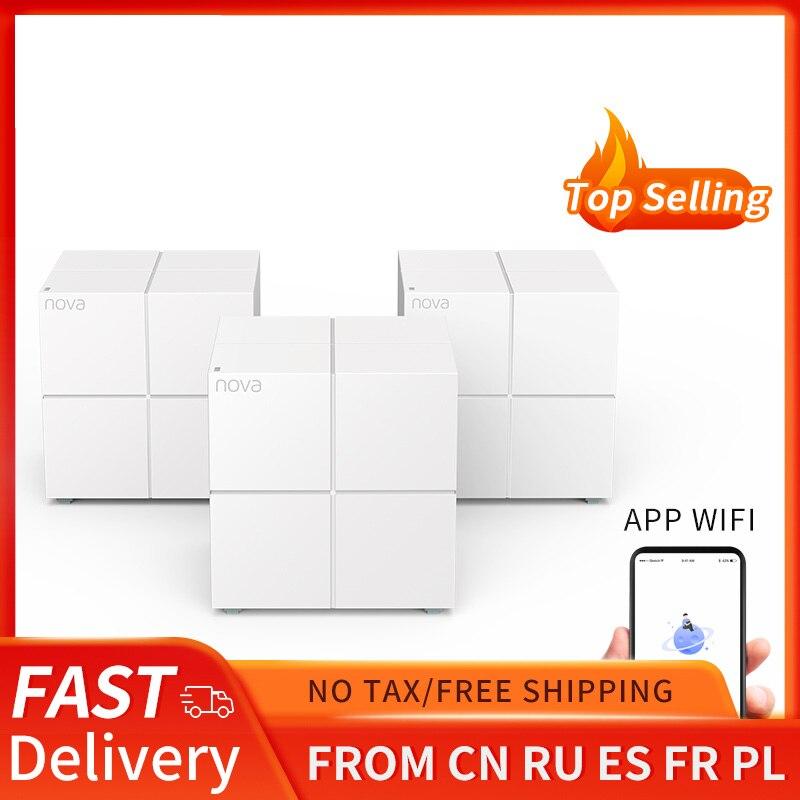Tenda MW6 — Système WiFi pour réseau domestique, routeur et répéteur, 11AC 2.4 go/5.0GHz, sans fil, gestion à distance via application
