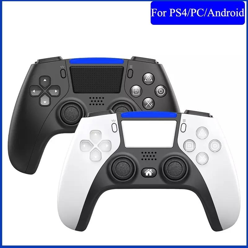 وحدة تحكم بلوتوث لاسلكية لوحدة تحكم PS4 ، لوحة ألعاب مع اهتزاز مزدوج 6 محاور للكمبيوتر الشخصي/Android/الهاتف