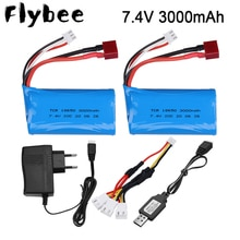 18650 7.4V 3000MAH lipo Battery 2s for Wltoys 12423 10428 12429 12401 12402 12402A RC Car Spare Part