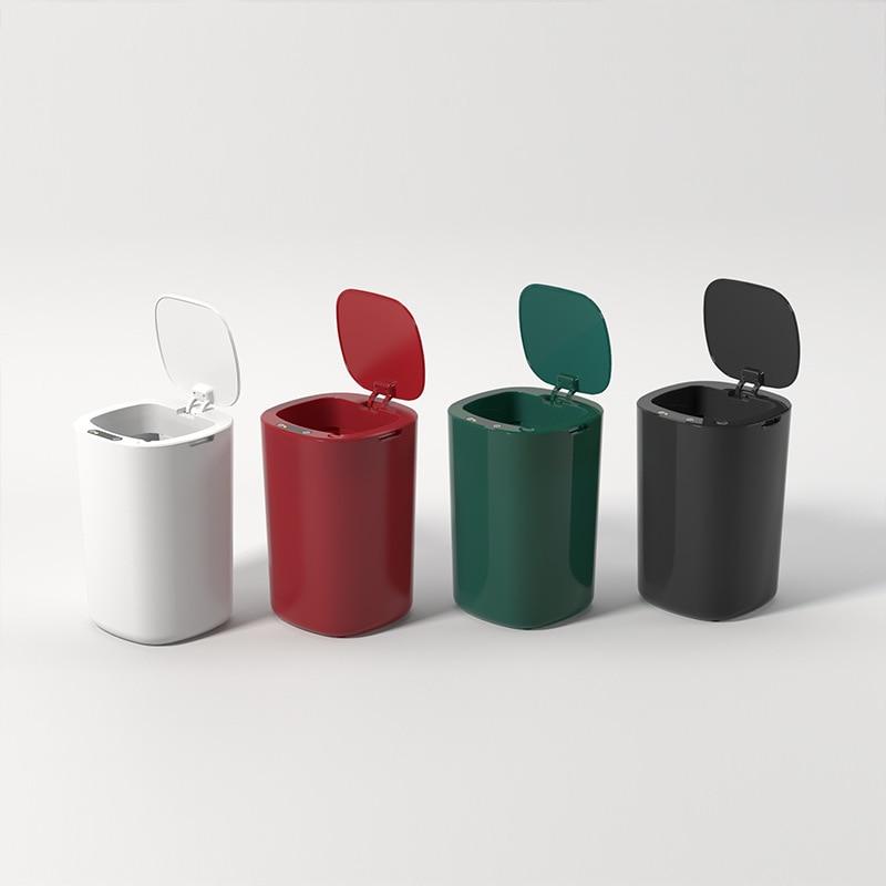 Smart Sensor Trash Can Household Bedroom Kitchen Multi-Function Trash Can Bathroom Storage Cleaning Tool Bathroom Accessories enlarge