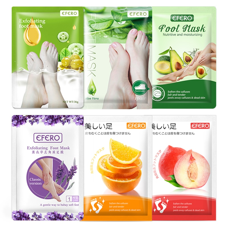 6Pair Exfoliating Foot Mask Exfoliation for Feet Mask Skin Care Feet Dead Skin Removal Socks for Pedicure Sock Peeling Foot Mask 4 pairs exfoliating foot mask sock pedicure socks exfoliation for feet mask heels foot peeling remove dead skin mask for legs