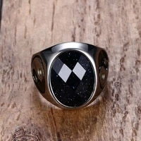new retro oval cats eye stone inlaid ring mens ring bohemian crystal inlaid yin and yang figure ring accessories party jewelry