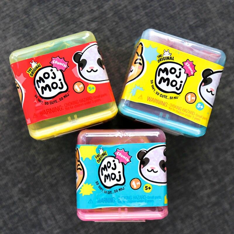 Original suave mojmoj cajas de persianas de relajación al azar juguete huevos ciegos suave Moji regalo para niños