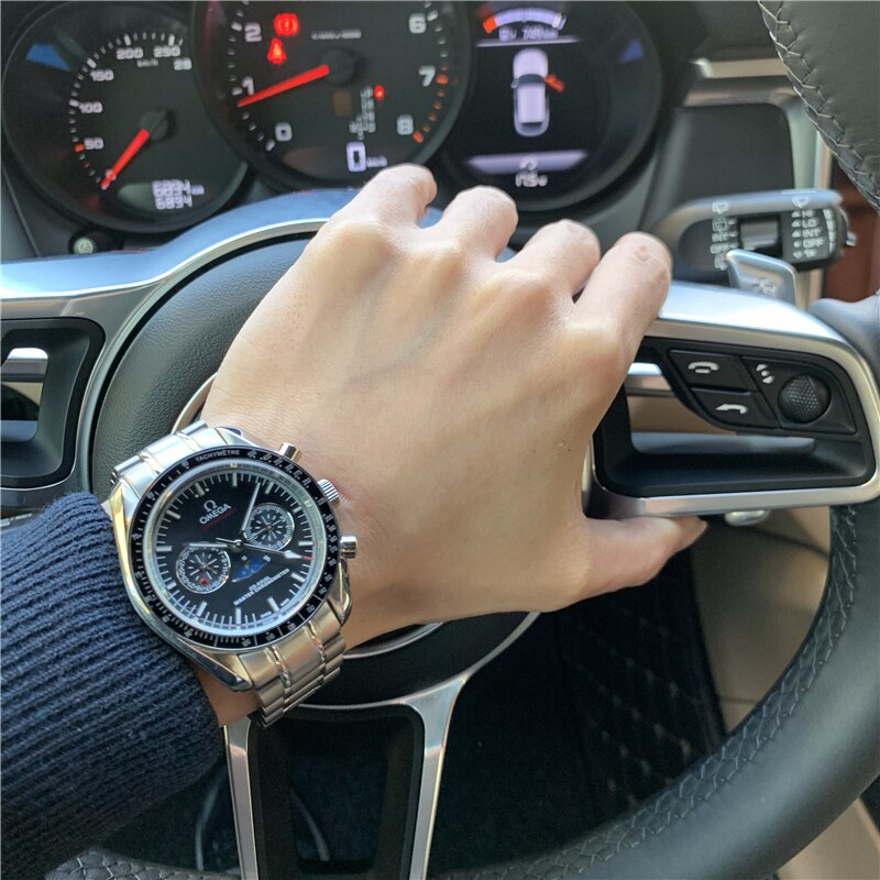 Speedmaster men's wristwatch automatic mechanical wristwatch multifunctional steel band watch waterp