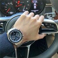 Speedmaster men\'s wristwatch automatic mechanical wristwatch multifunctional steel band watch waterproof luminous wristwatch