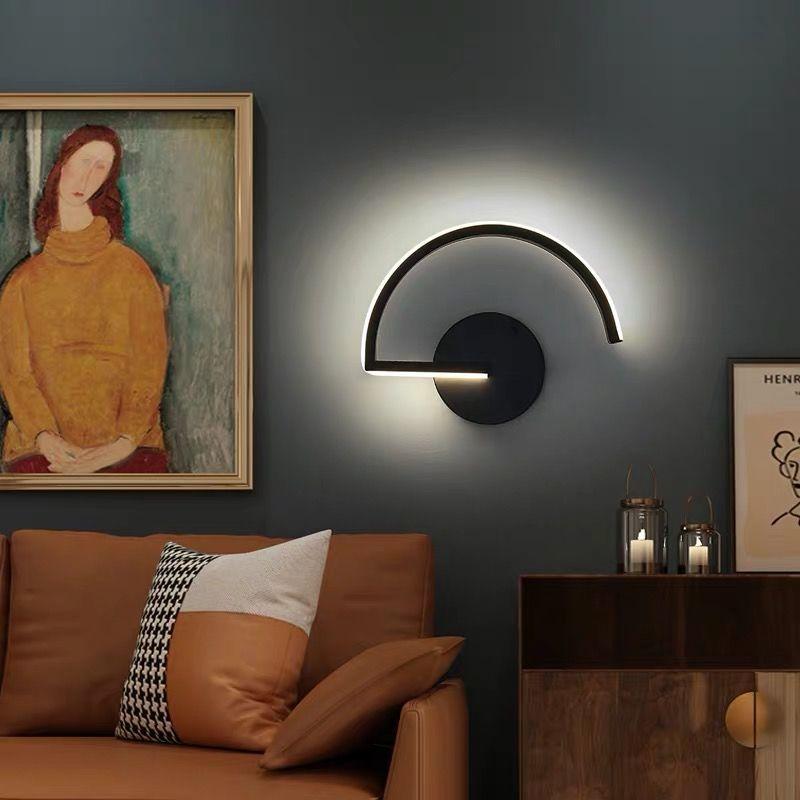 Современные минималистисветодиодный настенные светильники, черные и белые светодиодные лампы для гостиной, спальни, прикроватной тумбочк...