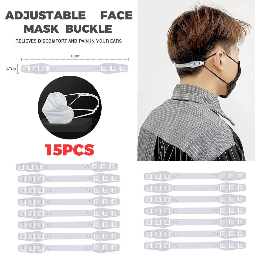15pcs Third Gear Adjustable Anti-slip Mask Ear Grips Extension Hook Multi-purpose Hooks Length Adjuster For Mask Size P3