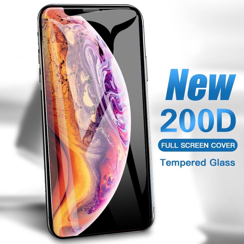 200D полное покрытие Защитное стекло для iPhone SE 11 Pro Max X Xs XR закаленное защитное стекло для экрана iPhone 8 7 Plus 6 6s