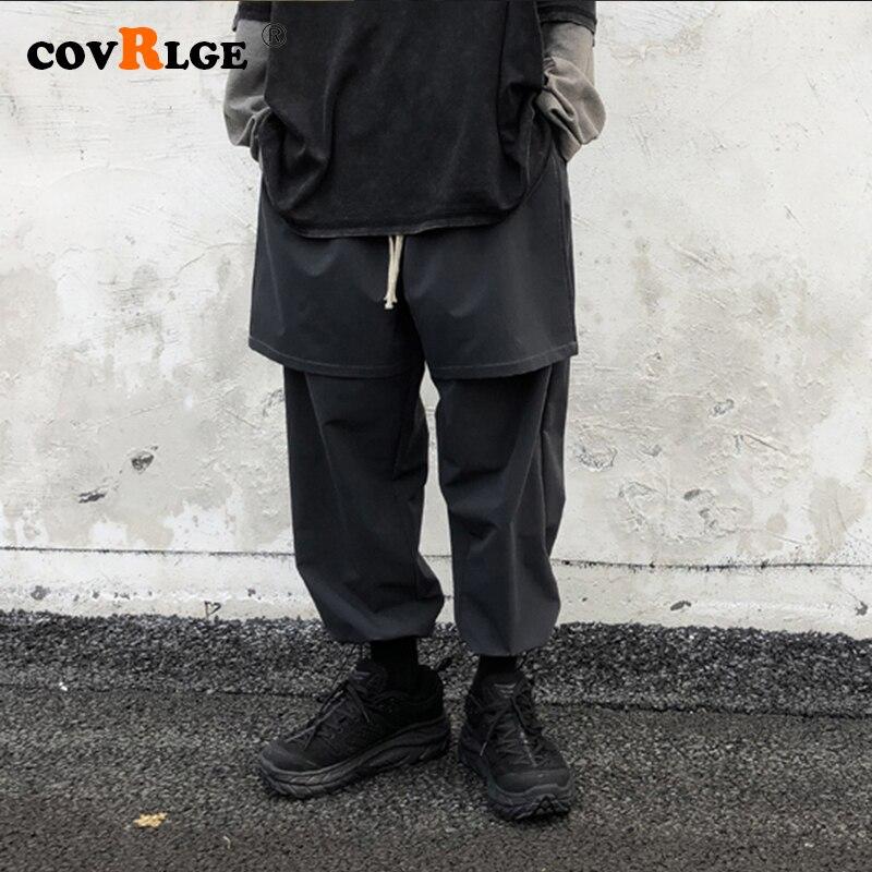 Covrlge мужские свободные шаровары, уличная одежда, повседневные брюки, Молодежные мужские брюки, модные свободные черные тренировочные брюки,...