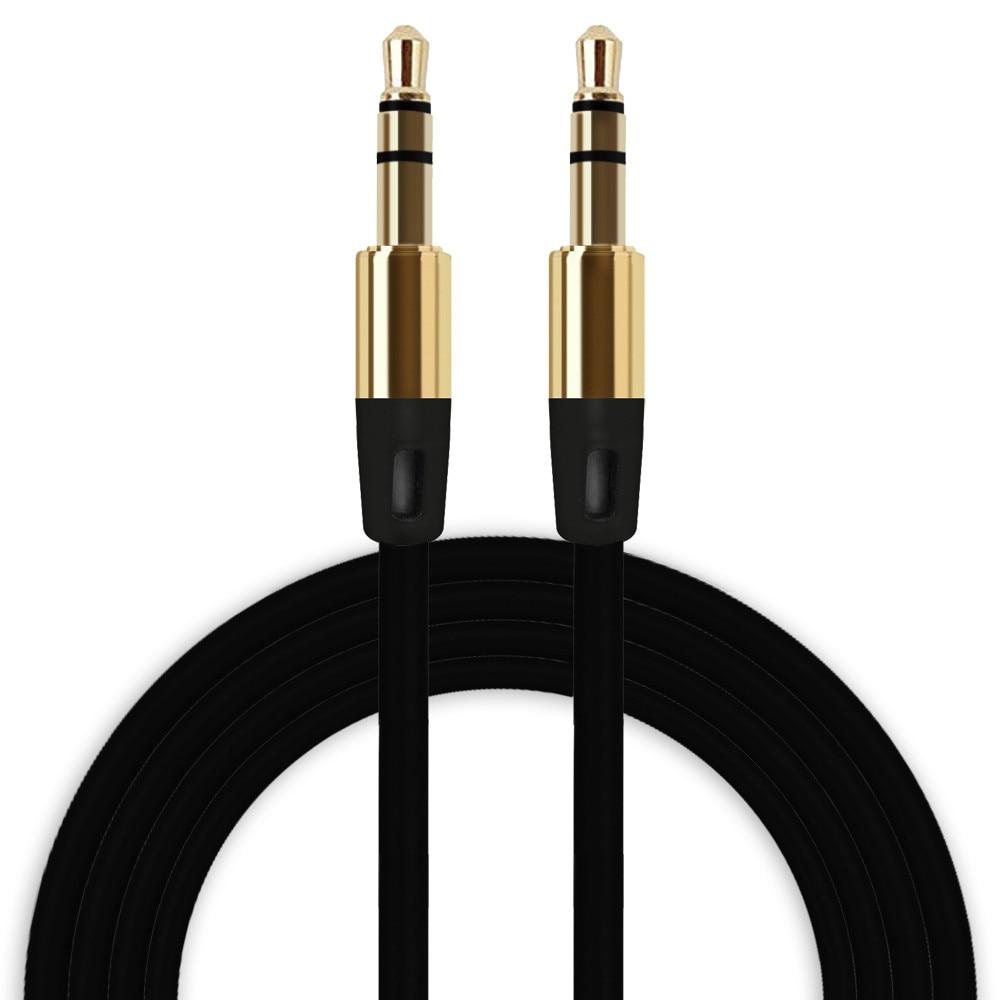 OMESHIN Universal 3,5mm Cable auxiliar Audio Cable macho a macho plano Aux Cable para teléfono móvil reproductor MP3 de alta calidad