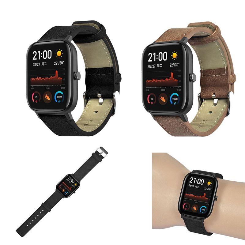 Винтажный ремешок из натуральной кожи для часов Huami Amazfit GTS Smart Watch