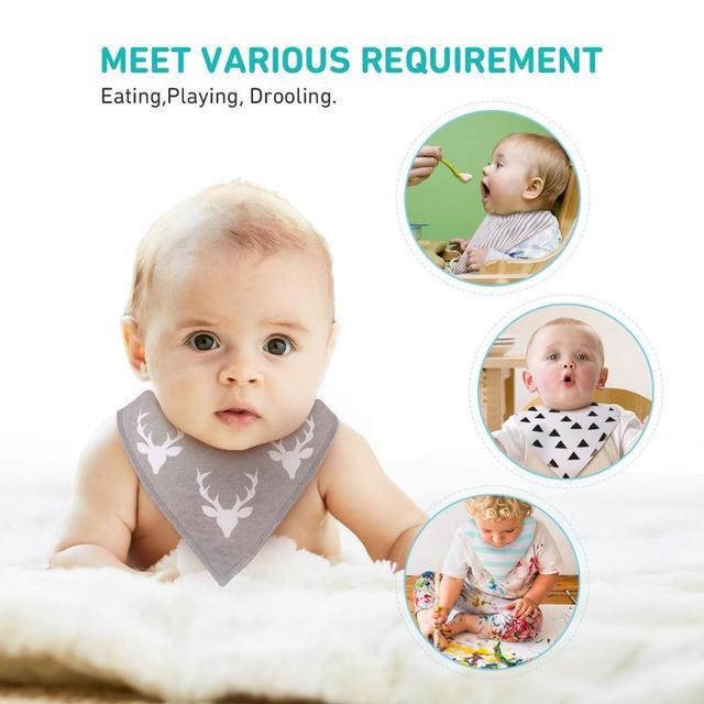 8Pcs Civarua Kids Baby Bibs Newborn Baby Bandana Drool Bibs Super Soft Bandana Bibs for Boys & Girls 100% Organic Cotton Bibs 2