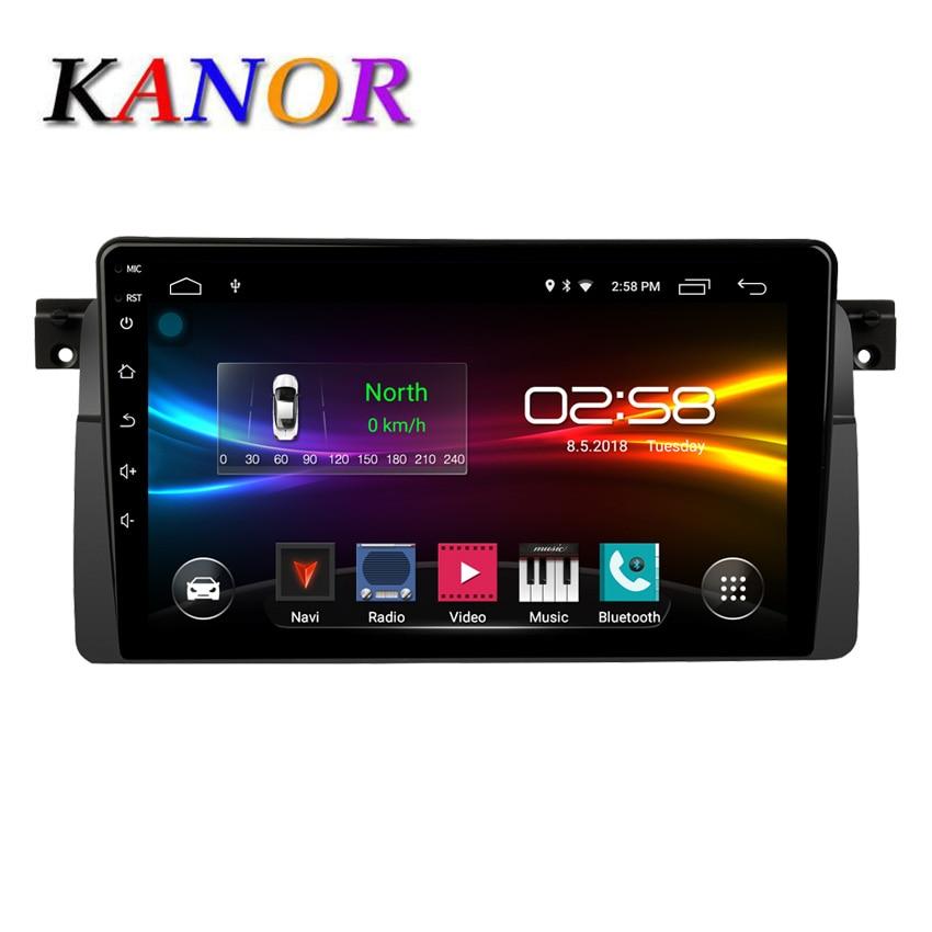 Kanor DSP Auto Radio Android 10 Car Stereo for BMW E46 M3 318/320/325/330/335 GPS Navigation BT Wifi Radio Mirrorlink