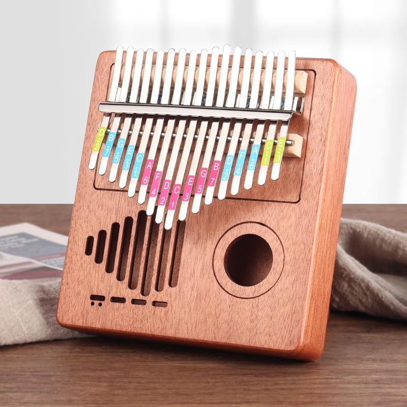 Thumb Piano Kalimba 17 Key Solid Wood Single Board Mahogany Keyboard Instrument Radio African Sanza Mbira Kalimba Finger Piano enlarge