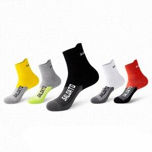 2021 Women Men Cotton Cycling Socks Basketball Compression Protect Feet Wicking Bike Running Football Sport Socks