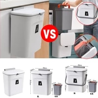 79l wall mounted trash can with lid waste bin kitchen cabinet door hanging trash bin garbage car recycle dustbin rubbish can