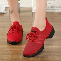 ghost step dance shoes womens flying woven mesh breathable womens shoes red white and black soft sole new vulcanized shoes