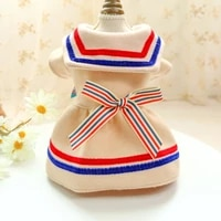 japanese style cat dresses dog clothes bowknot autumn winter princess pet skirt for small dogs teddy student style dog skirts