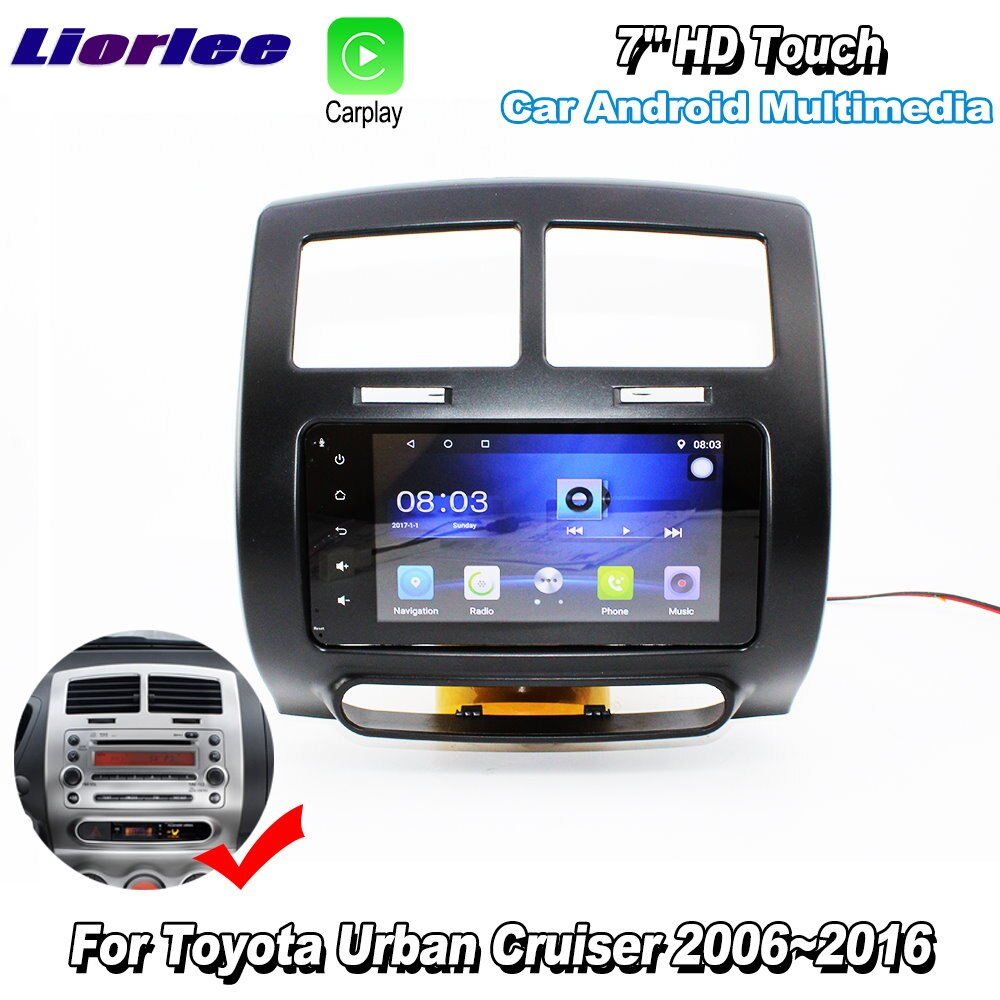 Liorlee para toyota urban cruiser 2006-2016 carro android carplay gps navi mapas navegação player rádio multimídia hd sem cd dvd