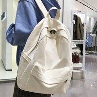 Модный женский рюкзак JOYPESSIE, хлопковый женский рюкзак для подростков, девушек, колледжей, мужчин, черная школьная сумка для студентов