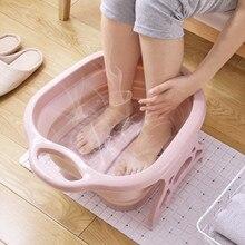 Fuß Einweichen Eimer Klapp Becken Kunststoff Schäumen Massage Eimer Haushalt Sauna Badewanne Pediküre Bad Faltbare Badewanne
