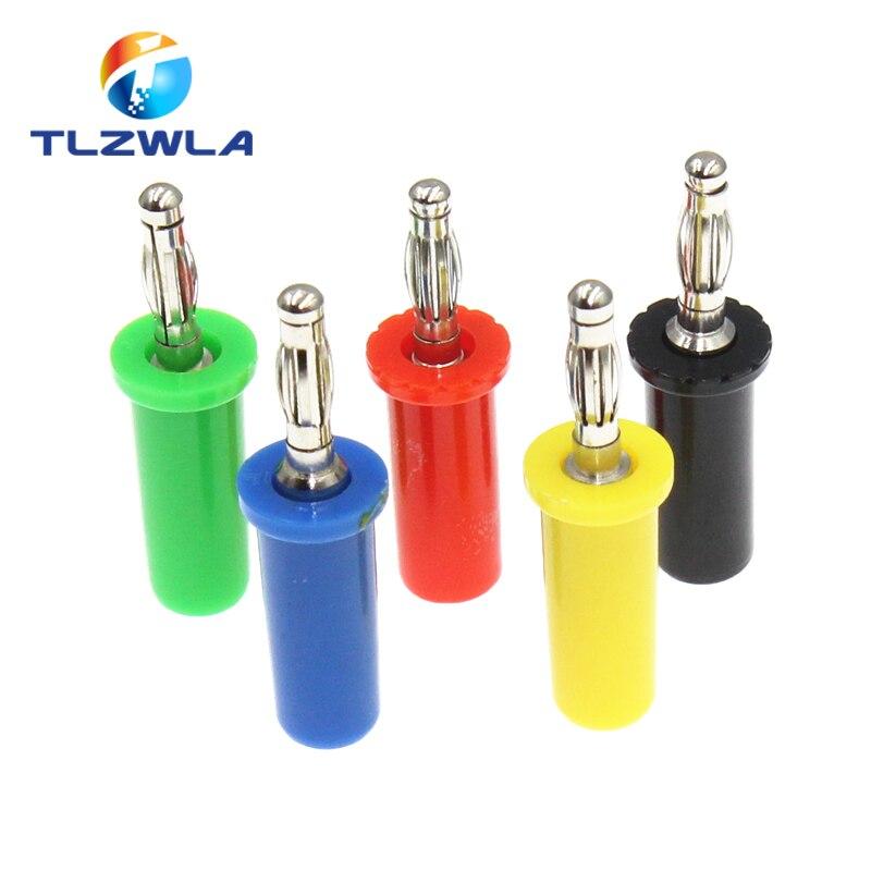 Tornillo del altavoz de Audio de 100 Uds., conectores de placa de oro Banana, Conector de 4mm, Conector de altavoz negro, rojo, verde, azul y amarillo