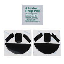 2 juegos de pegatinas de almohadilla de ratón de 0,6mm para Razer Mamba HyperFlux Mouse N0HC