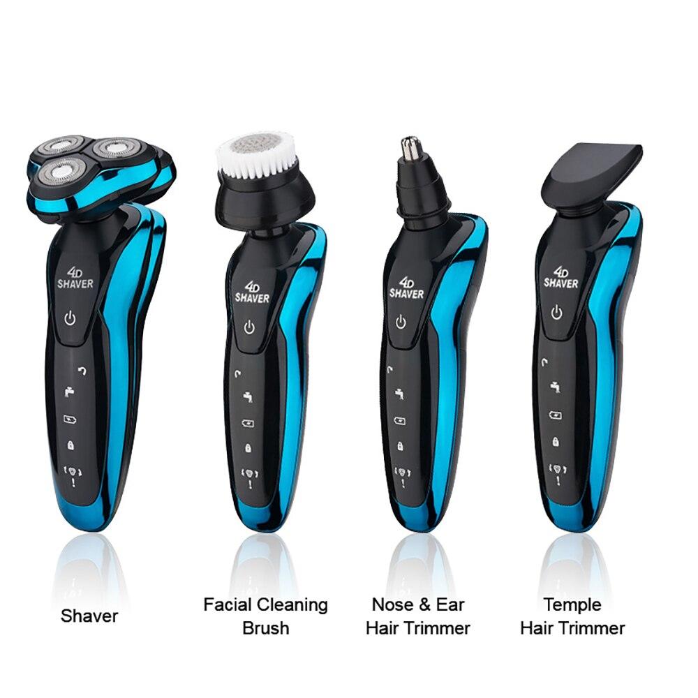 Electric Razors 4 in 1 3 Blades Beard Razor Trimmer Wet/Dry Shaving Machine for Men's Man Hair Clipper Rechargeable USB Sex enlarge